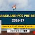 Uttarakhand PCS Pre Results 2017 Cutoff Marks