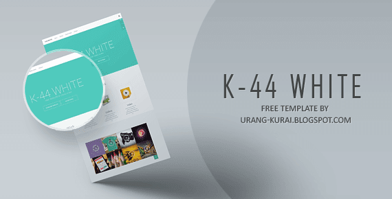 K-44 White - Responsive Blogger Template