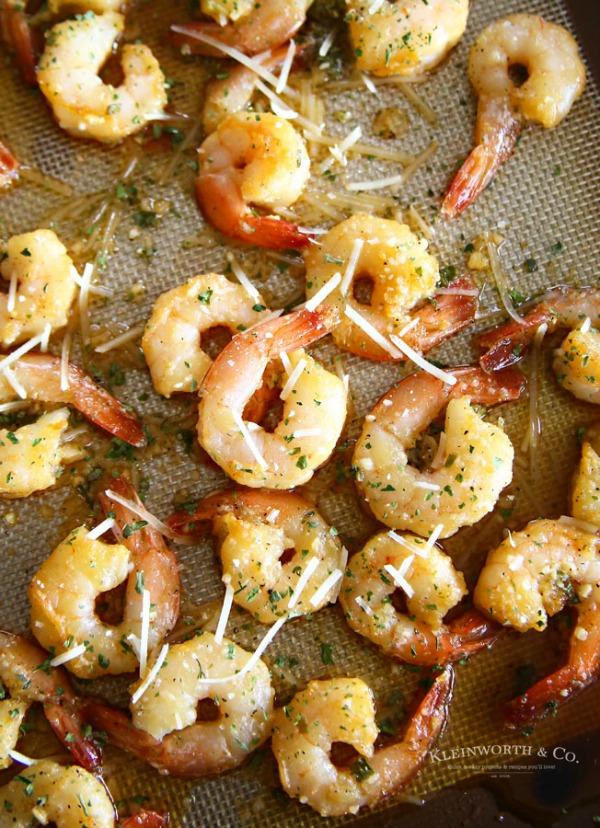 Honey Garlic Sheet Pan Shrimp from Kleinworth and Co.