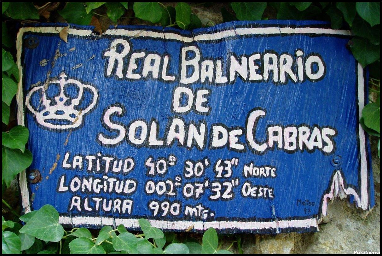 Balneario de Solán De Cabras. Cartel de situación