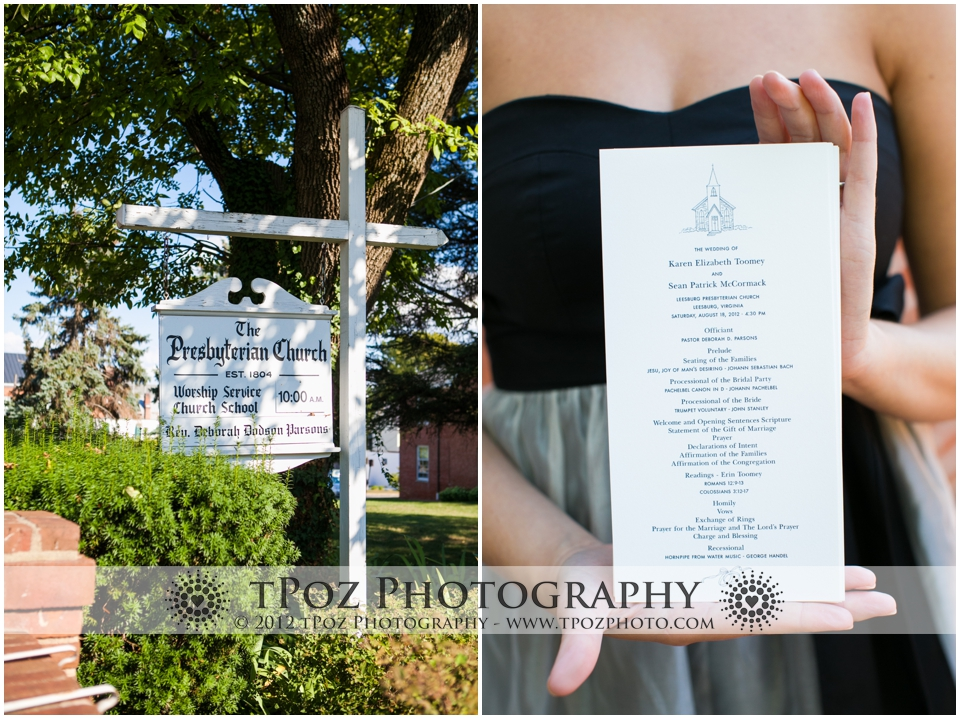 Leesburg Presbyterian Church Wedding
