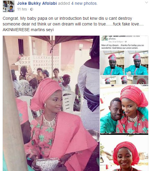 Woman curses baby father after he went on to marry another lady