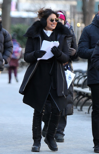 Priyanka Chopra Picture Quantico Movie Set in Madison Square Park