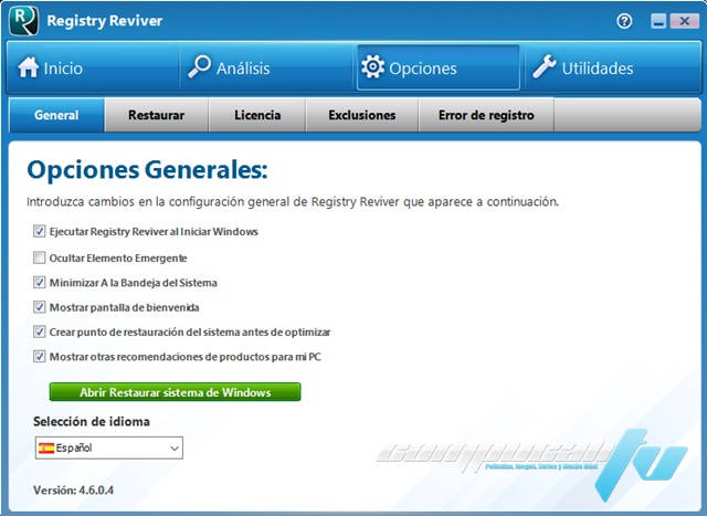 ReviverSoft Registry Reviver 4.6 Full Español