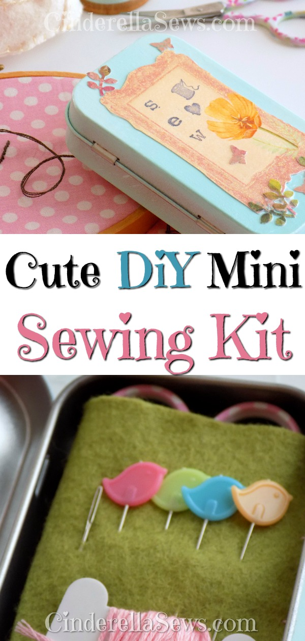 Make this easy, sturdy travel sewing kit for traveling, mending, and to throw in your purse. Complete with everything you need for small projects, these make adorable and practical homemade gifts. #diygifts #homemade #sewing #sewingkit