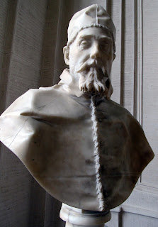 A bust of Urban VIII sculpted by Gian Lorenzo Bernini in 1637-8