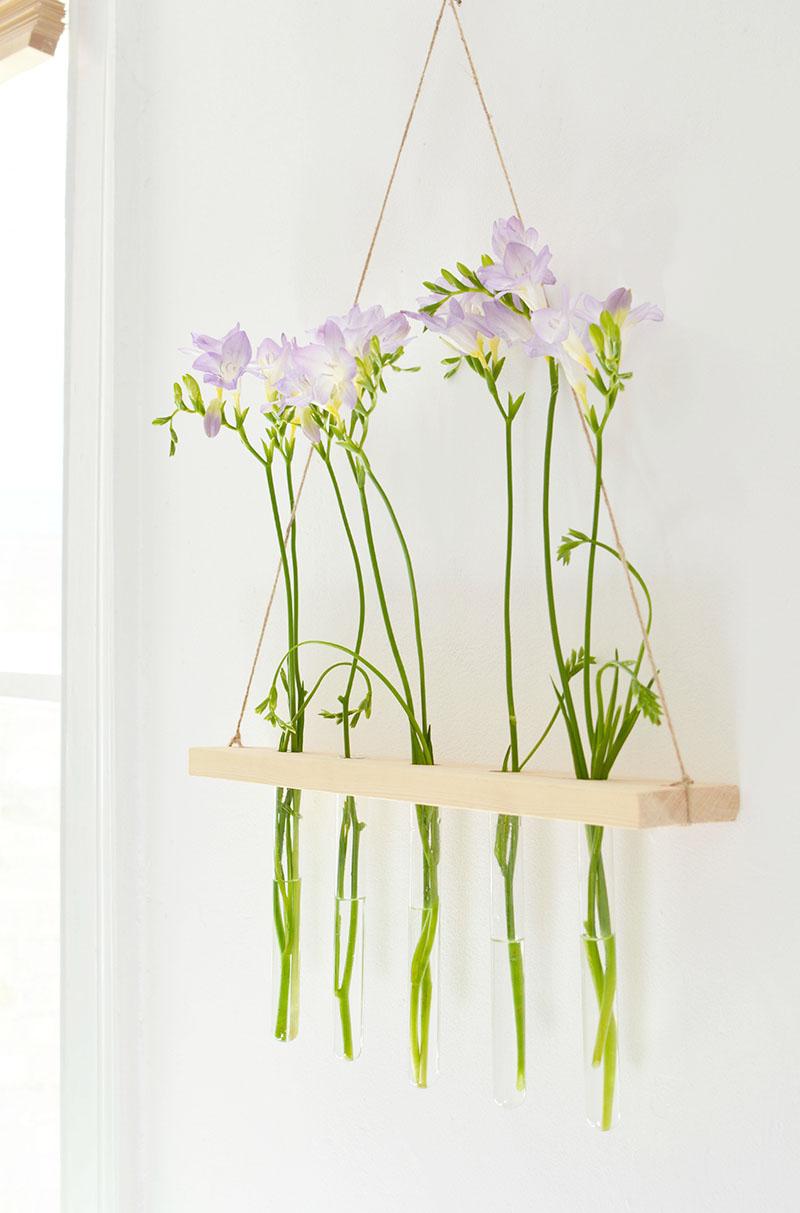 Diy Hanging Flower Display Burkatron