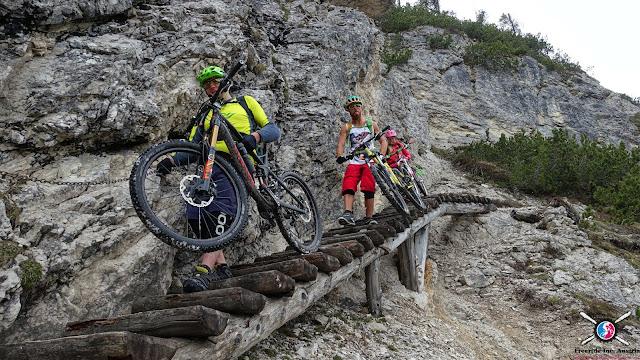 Bikebegstiegen Dolomiten Strudelkopf mtb