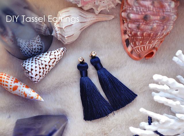 DIY gifts, tassel earrings with studs