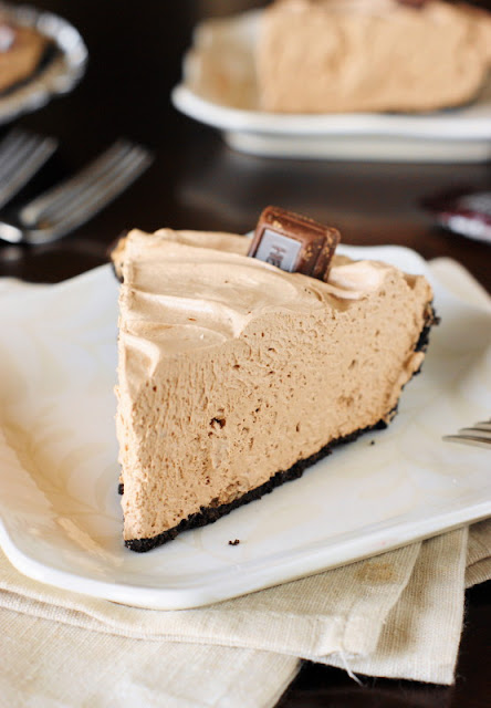 Slice of No-Bake Hershey's Chocolate Bar Pie Image