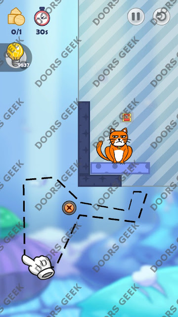 Hello Cats Level 97 Solution, Cheats, Walkthrough 3 Stars for Android and iOS