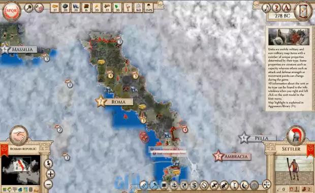 لعبة روما القديمة للكمبيوتر