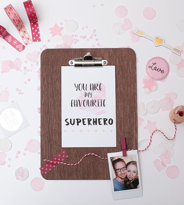 Free Print Printable gratis Druck You are my favourite Superhero Valentinstag