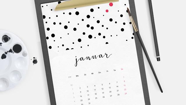 Freebie, Jahreskalender, Ausdrucken