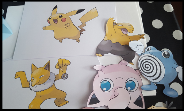 Pokemon templates for Party Boxes