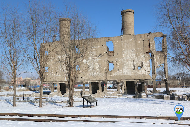 The site of boiler room at Unit 731 Museum in Harbin, Heilongjiang province of China
