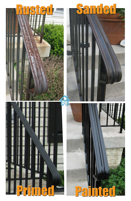 step by step of removing rust