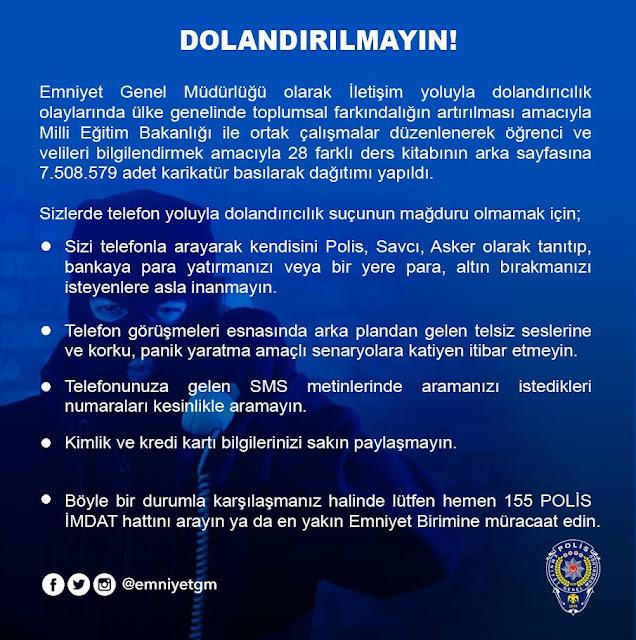 Polis Uyarıyor: Dolandırılmayın