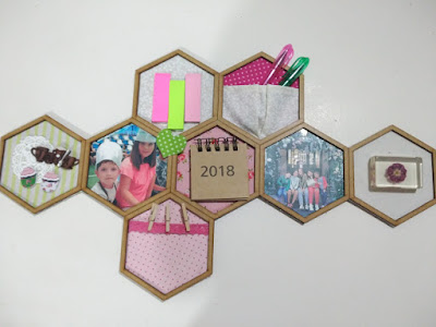 idea regalo, idée cadeau, DIY gift ideas, marco, hexágonos, honeycomb frame, hexagon, decoración, decoration