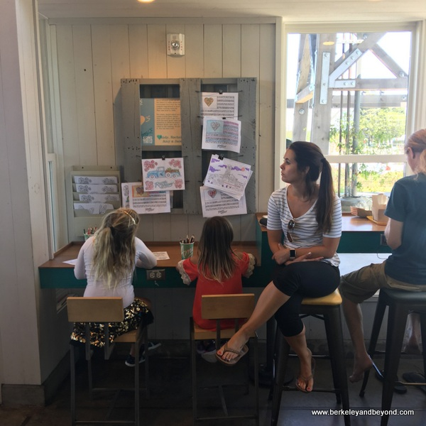 activity table for kids at Amy's Drive Thru in Rohnert Park, California
