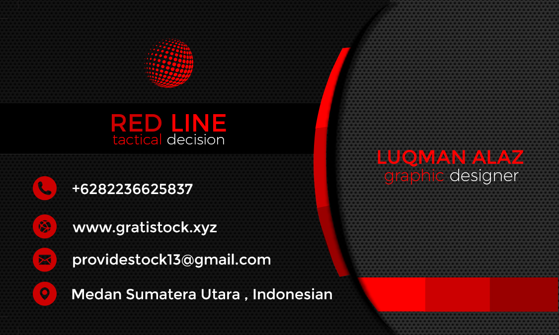 Red line and black corporate business card gratistock free download psd cards businness simple dark blue and white reheart Gallery