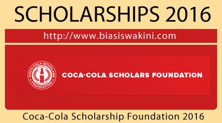 Coca Cola Scholarship Foundation 2016