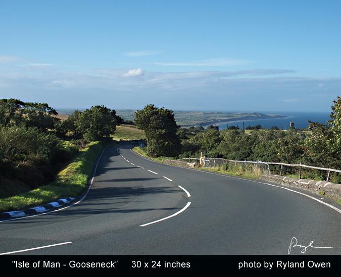 Ryland Owen image photo of the Isle of Man at Gooseneck corner classic TT motorcycle races