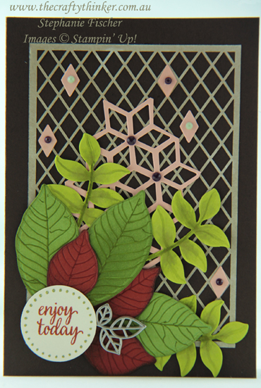 #thecraftythinker #stampinup  #delightfullydetailed  #eclecticlayers  #cardmaking , Delightfully Detailed Laser Cut Paper, Rooted in Nature, Eclectic Layers, Stampin' Up Australia Demonstrator, Stephanie Fischer, Sydney NSW