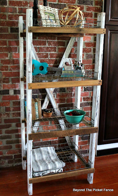 industrial shelf, farmhouse shelf, rustic, pantry shelf, rustic, shabby, http://goo.gl/CQsXQJ