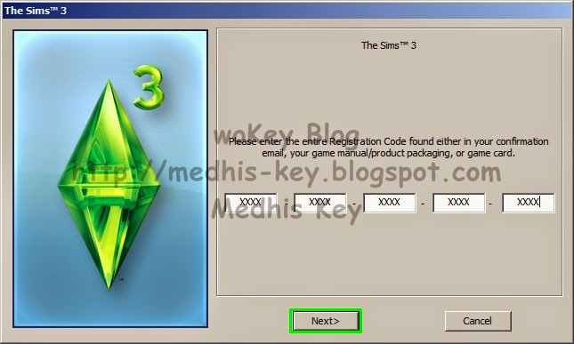 sims 3 registration code origin