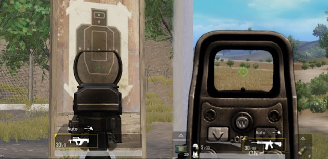 cara ganti crosshair scope pubg mobile