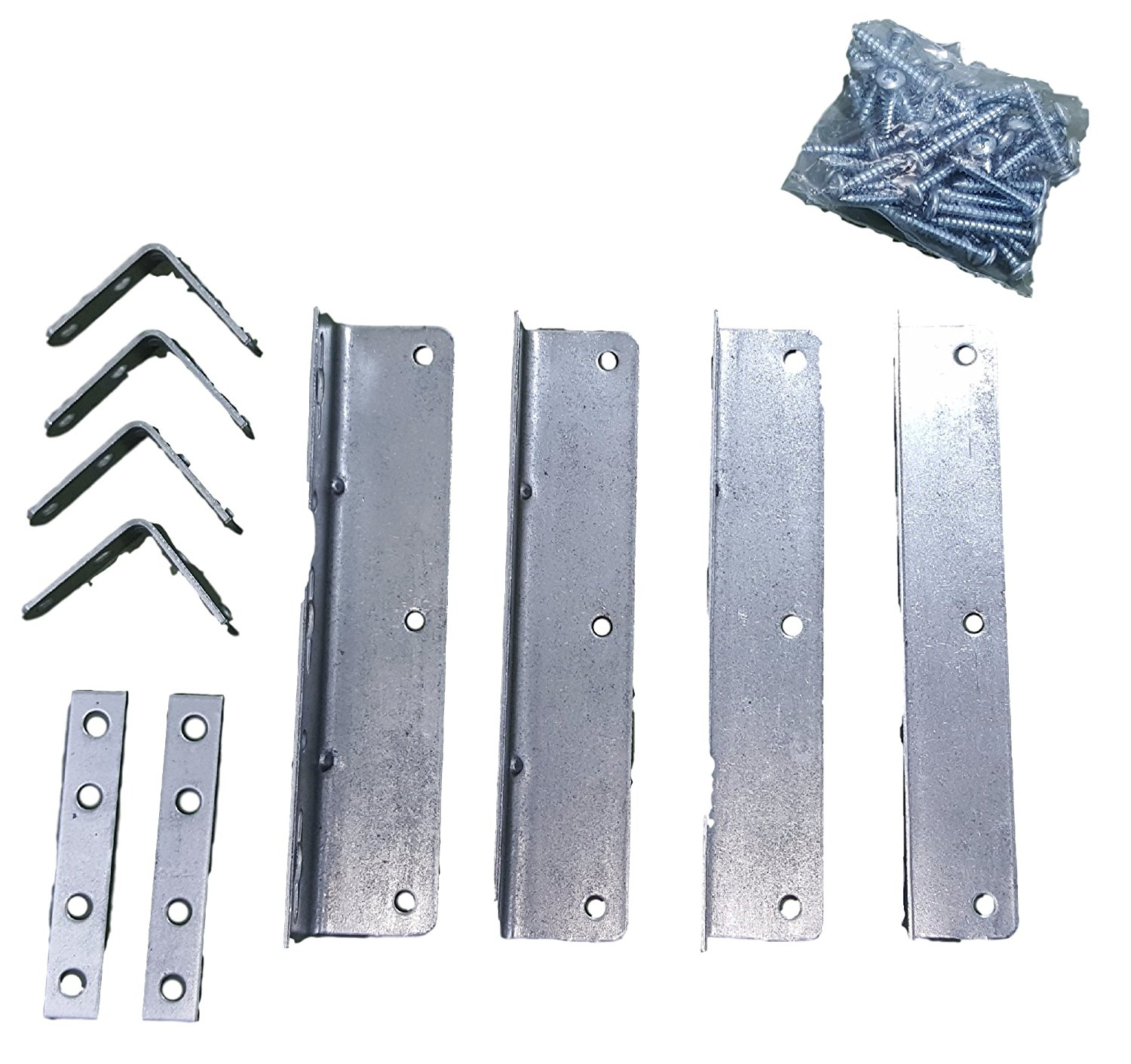 Waterbed Hardware Brackets And Screws For California King Metal Bedframe
