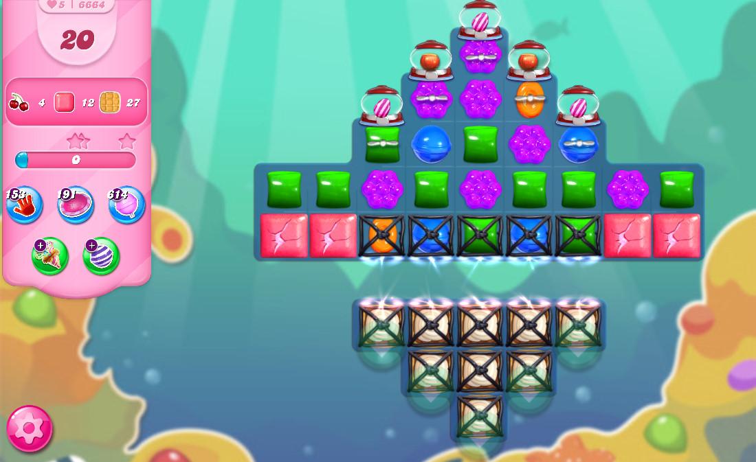 Candy Crush Saga level 6664