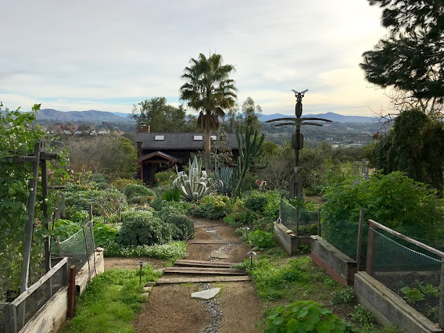 The view and the Art House at the California Center for Creative Renewal.