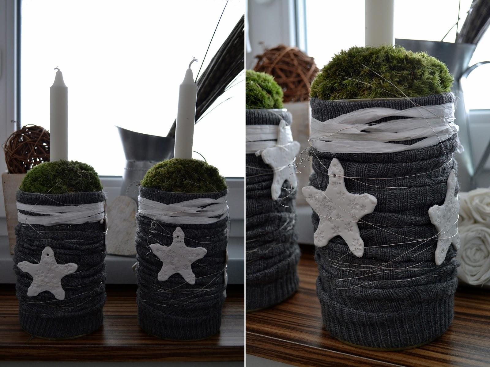 Centre De Table Lybstes Selber Machen Mit Moos Wei Em Bast Silberdraht Und  Schneeflocken Aus FIMO Beach Chic Decorating Ideas ...