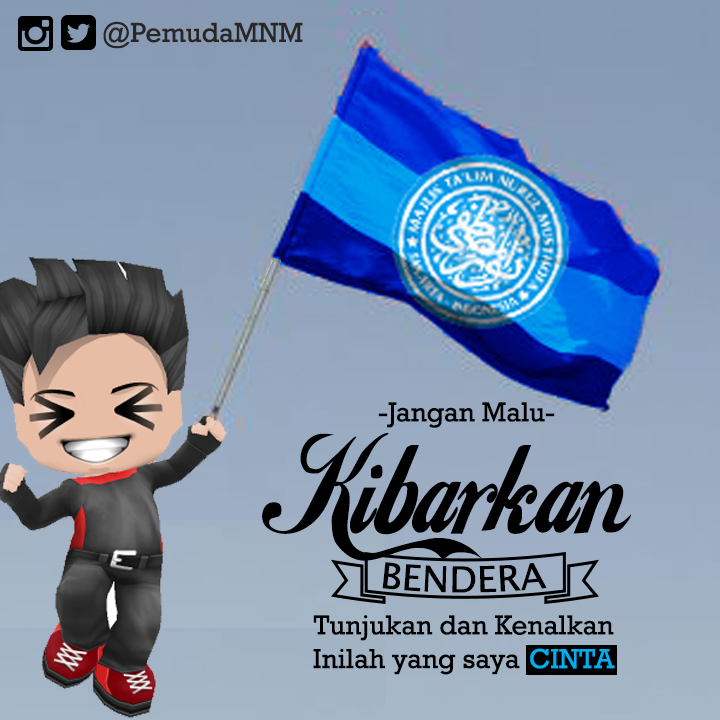 Download Wallpaper Jangan malu Kibarkan Bendera