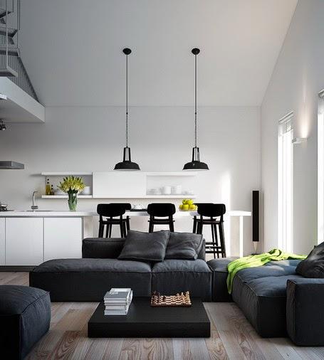modern home black fabric sofa