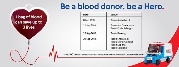WORDLESS WEDNESDAY : TESCO BLOOD DONATION