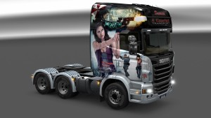 Resident Evil Scania R paintjob re-packed