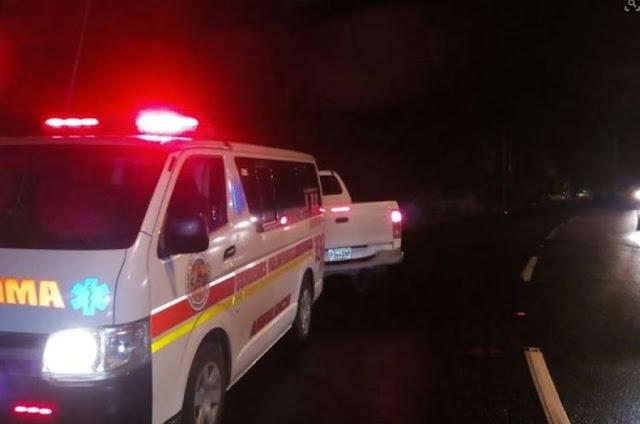 Dos muertos y un herido en accidente de tránsito