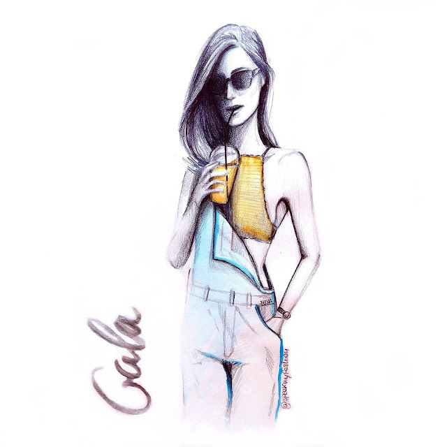 gala gonzalez, sketch, fashion, illustration