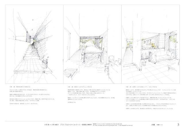 庭を囲んで三つの家が出会う多世帯の住まい 内部空間のイメージ