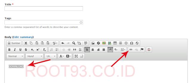 proses pertama membuat link download di drupal