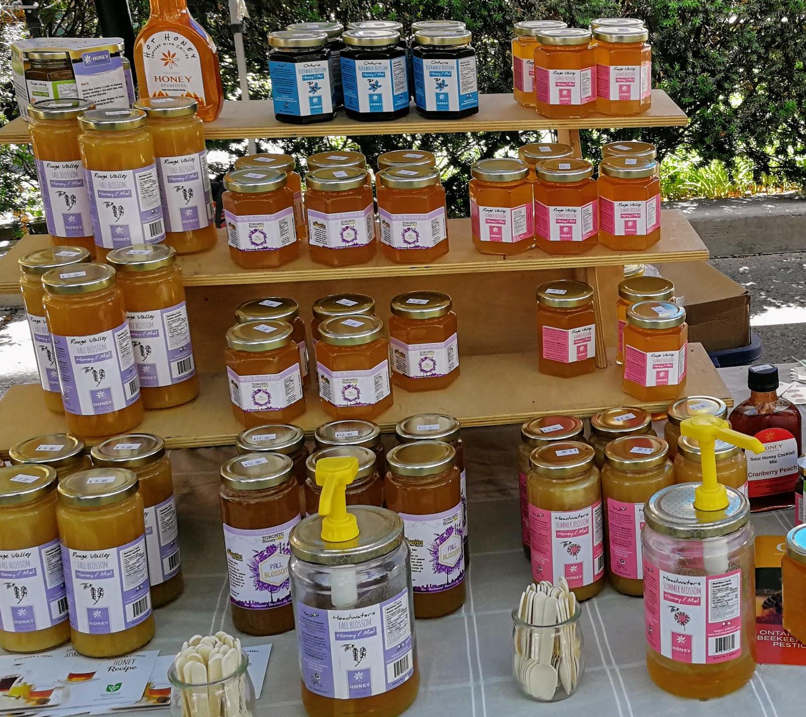 Toronto Farmers Market, local jam, local honey
