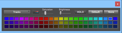 The Pro Tools Color Pallet window