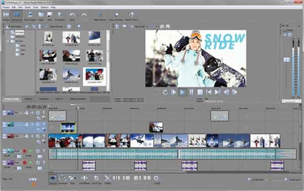Software edit video terbaik yang bisa dicoba - Sony Movie Studio Platinum Suite