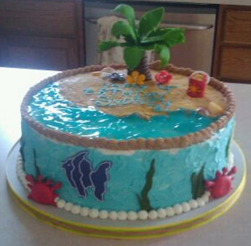beach birthday cake pictures f6u