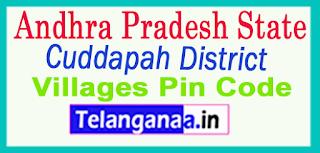 Cuddapah District Pin Codes in Andhra Pradesh  State