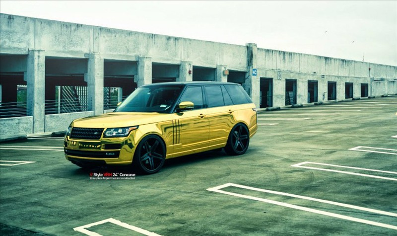 Golden Range Rover 001