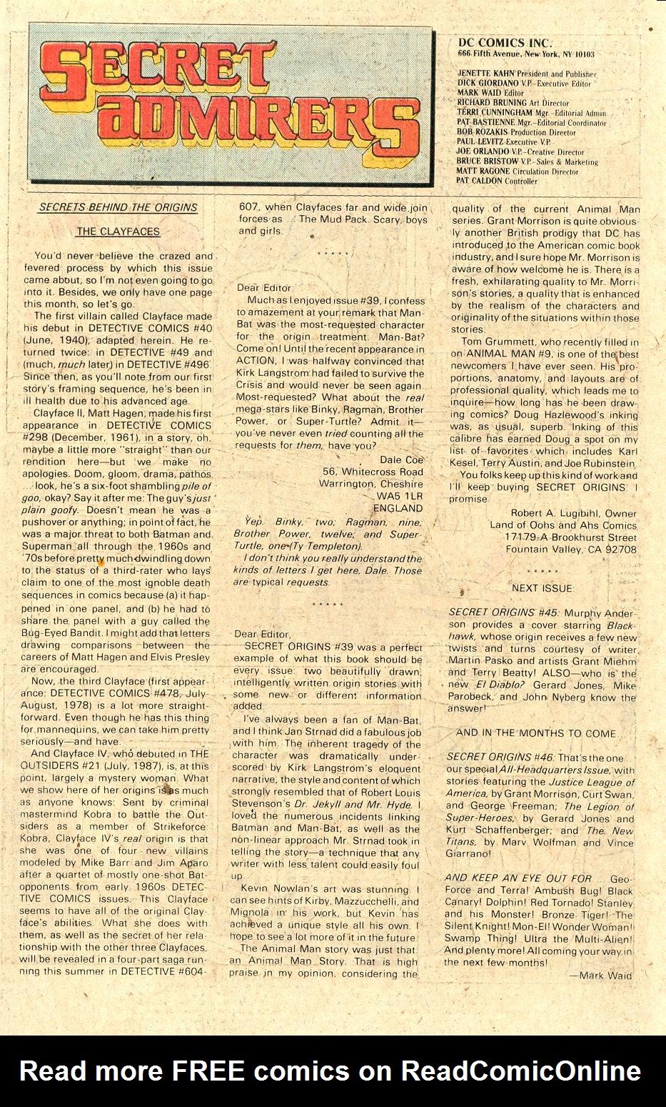 Read online Secret Origins (1986) comic -  Issue #44 - 41